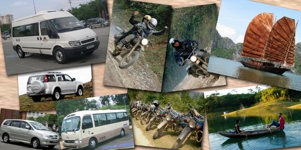 Voyage moto, voiture, bateau, Vietnam